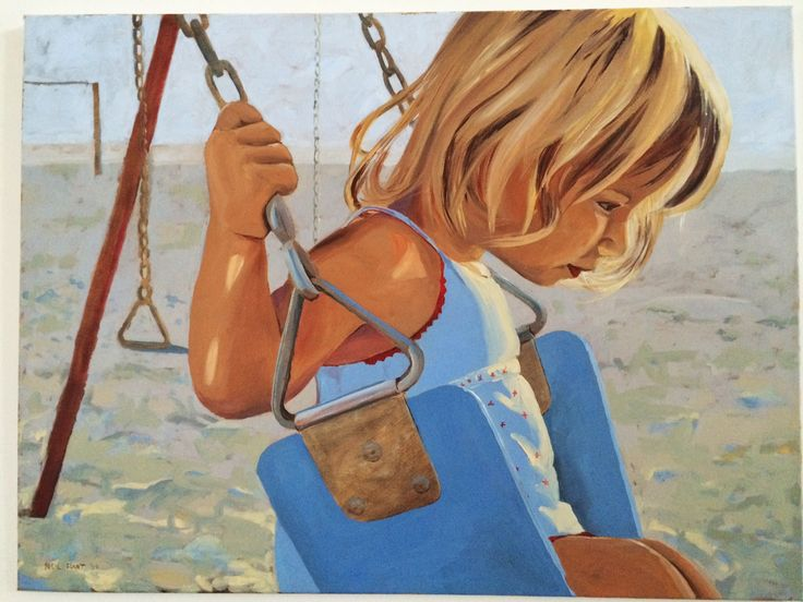 Girl on a swing Acrylic on canvas. 800 x 600