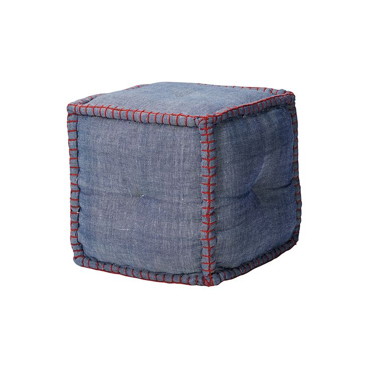 square denim pouf serena lily georgie pinterest poufs lilies and squares. Black Bedroom Furniture Sets. Home Design Ideas