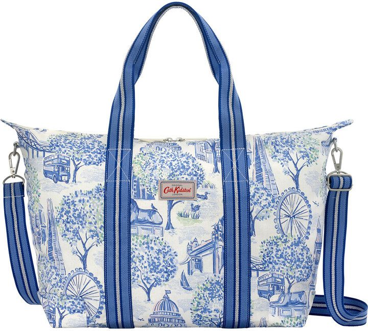 London Toile Foldaway Overnight Bag