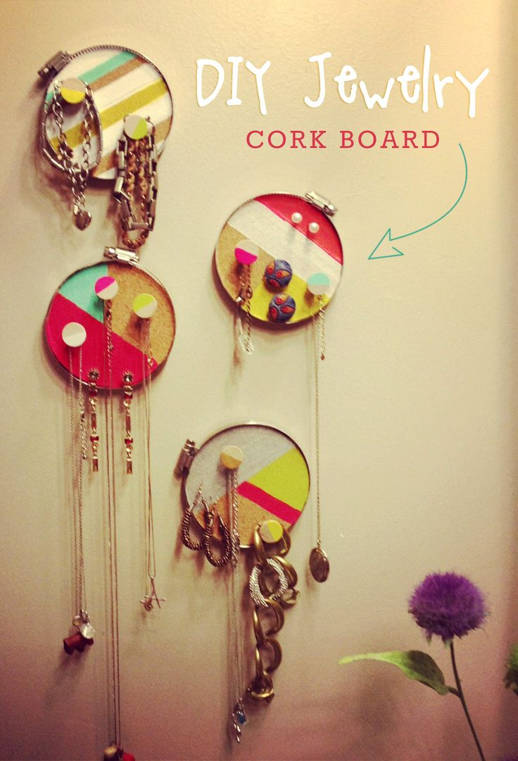 cork circle jewelry holder