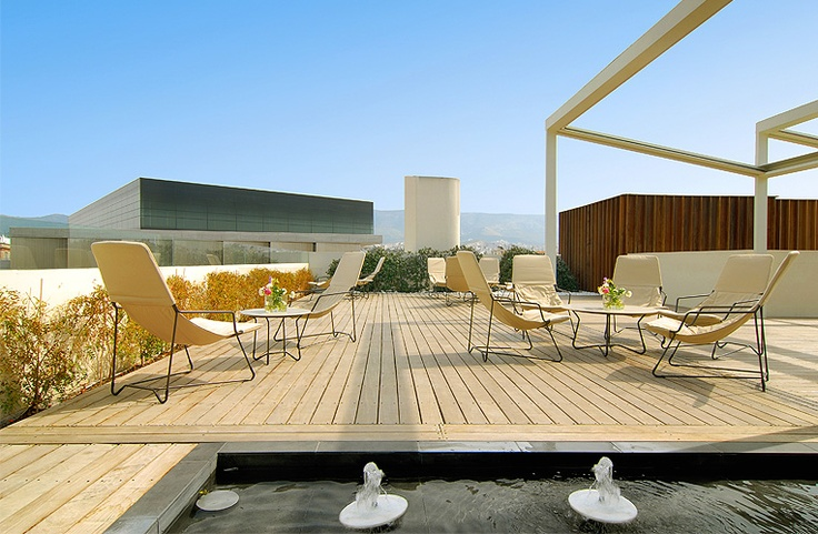 Relax in the Sun, enjoy the best view of the #Acropolis and the New Acropolis #Museum.