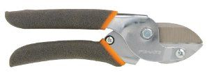 Fiskars 8110 Power Lever UltraBlade Anvil Pruner by Fiskars. $14.57. Power-lever technology maximizes leverage to make cutting up to two times easier than traditional tools. Non-slip comfort grip improves control and helps reduce hand fatigue. Fully hardened, precision-ground steel blade provides high-quality cutting performance. Ideal for pruning green, living growth like ornamental shrubs and trees. Ultrablade coating offers an edge that stays sharp five tim...