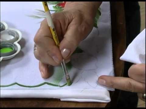 20111201 PINTURA EM TECIDO PANO DE COPA 1 - YouTube