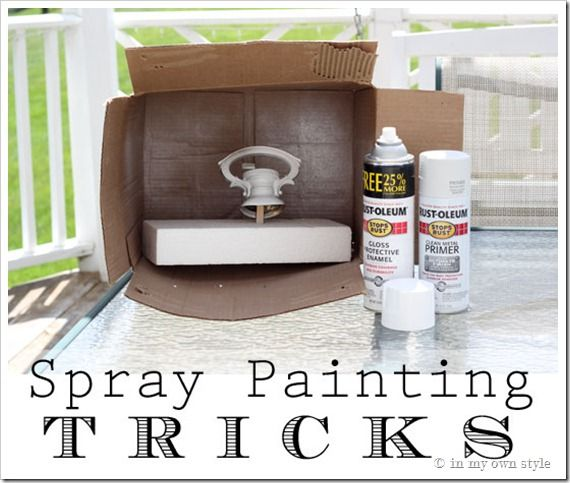 How To Update a Brass Light Fixture and Spray Painting Trick: Paintings Job, Idea, Cardboard Boxes, Painting Tricks, Sprays Paintings Tips, Perfect Paintings, Spray Painting, Paintings Tricks, Tips And Tricks