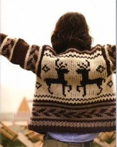 "Nothing says ""Canadiana"" like a Cowichan Sweater. Hand-knit and designed in the Cowichan valley by First Nations, they are a cherished and much valued possession (wearable art). The Cowichan Valley is north of Victoria, south of Nanaimo - a beautiful valley - almost as lovely as its people"