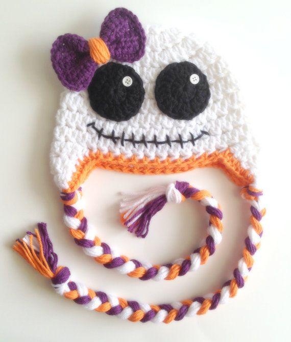 Little Girl Crochet Ghost Hat Halloween by PinkLemonKnits on Etsy, $25.00