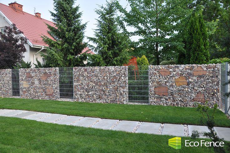 Nowoczesne ogrodzenia z kamienia   gabiony