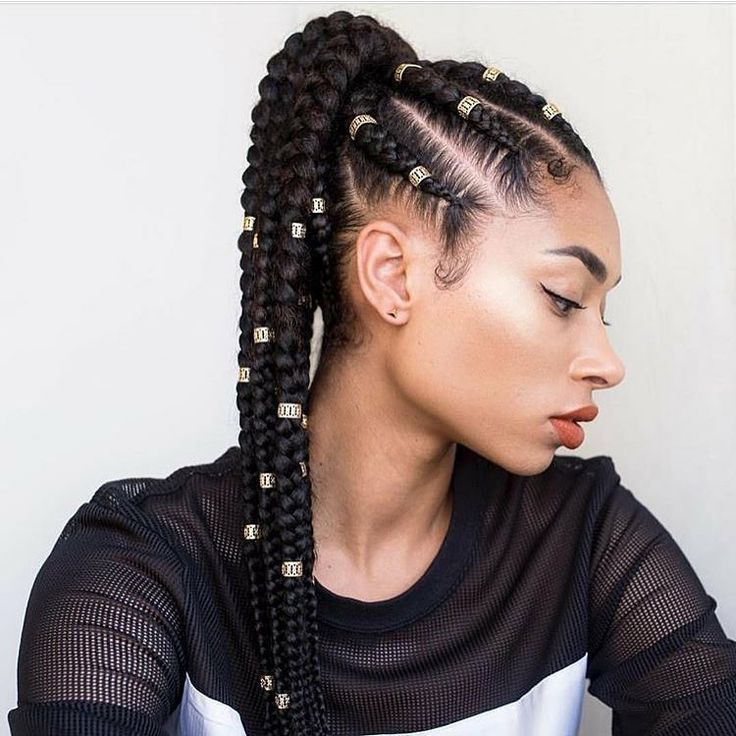 Singles Braided Up Into A Ponytail Protectivestyle