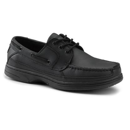 Dockers SureGrip Dockers SureGrip Mens Pier Black Boat Shoe Slip Resistant Work Shoes