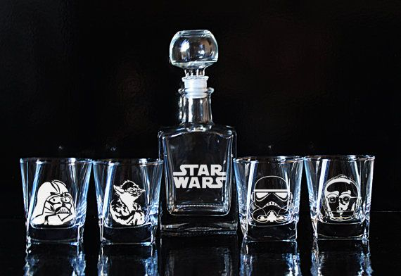 Star Wars Gift Glass Whiskey decanter Set by EngravedBoutique
