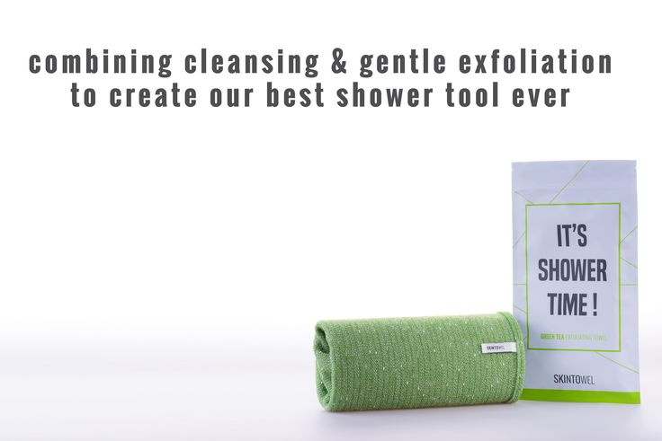 To learn more about the Green tea exfoliating shower towel, visit us at www.skintowel.com