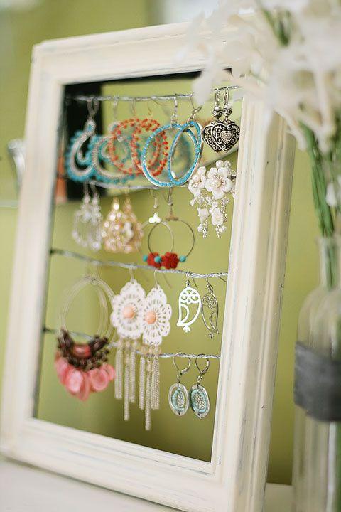 DIY earring holder
