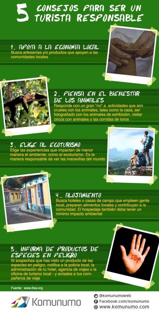 B1 - Imperativos: 5 consejos para ser un turista responsable.