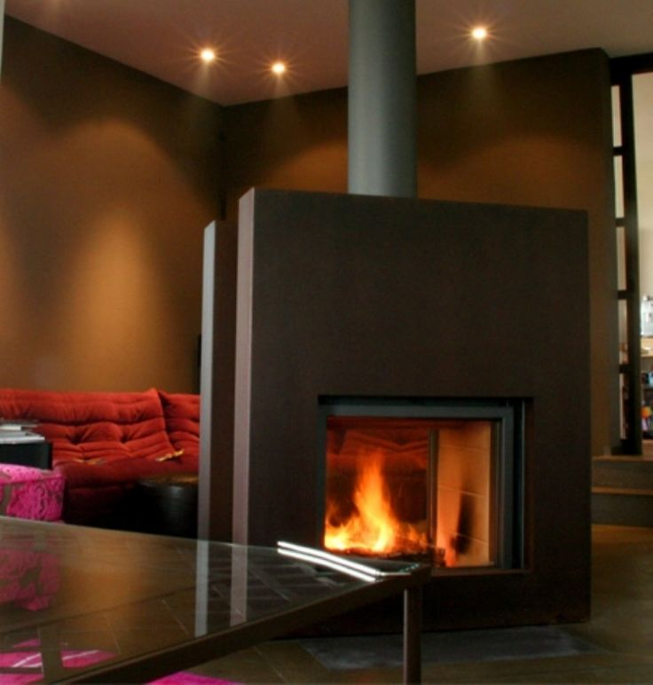 Stuv 21/125 DF #KernowFires #stuv #fireplace #woodburner #stove #cornwall #inset #doublesided #contemporary