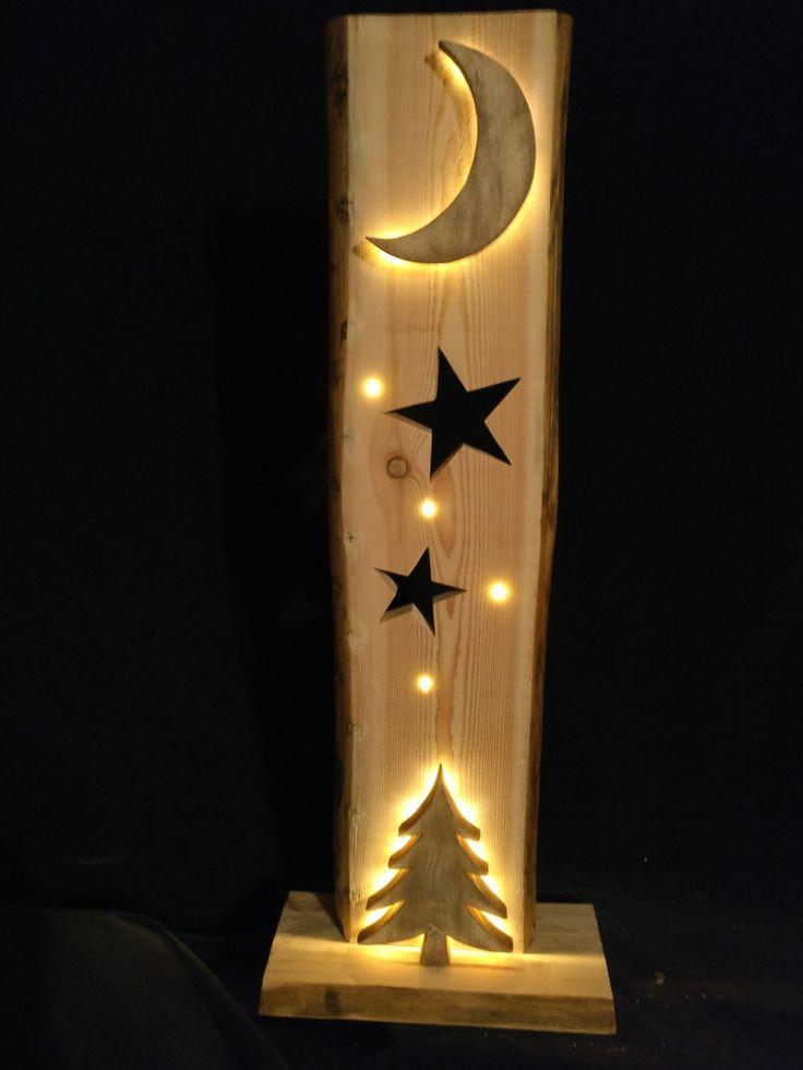 Mein zweites Weihnachtsdeko, jetzt mit einem Mond der von hinten mit LEDs angeleuchtet wird. Sehr aufwendige Arbeit die aber auch viel Spaß bereitet.