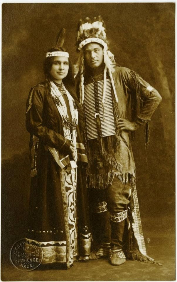 "Moon Beam, Strong Arm - Potawatomi - 1909  Potawatomi call themselves Neshnabé meaning ""Original People."""