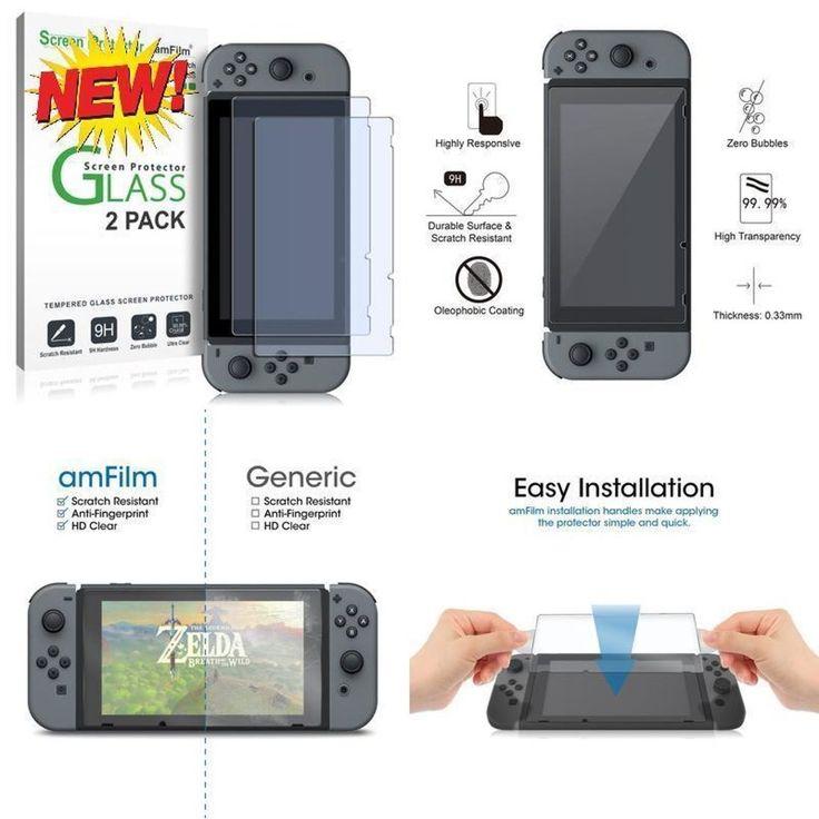 amFilm Tempered Glass Screen Protector for Nintendo Switch 2017 (2-Pack) http://ift.tt/2inRMkJ  #amFilm #Tempered #Glass #Screen #Protector #Nintendo #Switch # #Cell #Phones #Accessories #CellPhone #ScreenProtectors #vanastores