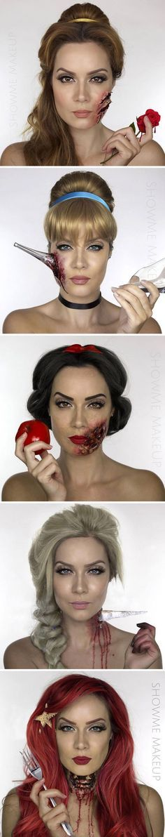 Twisted Disney princesses #Halloween #makeup by Shonagh Scott: