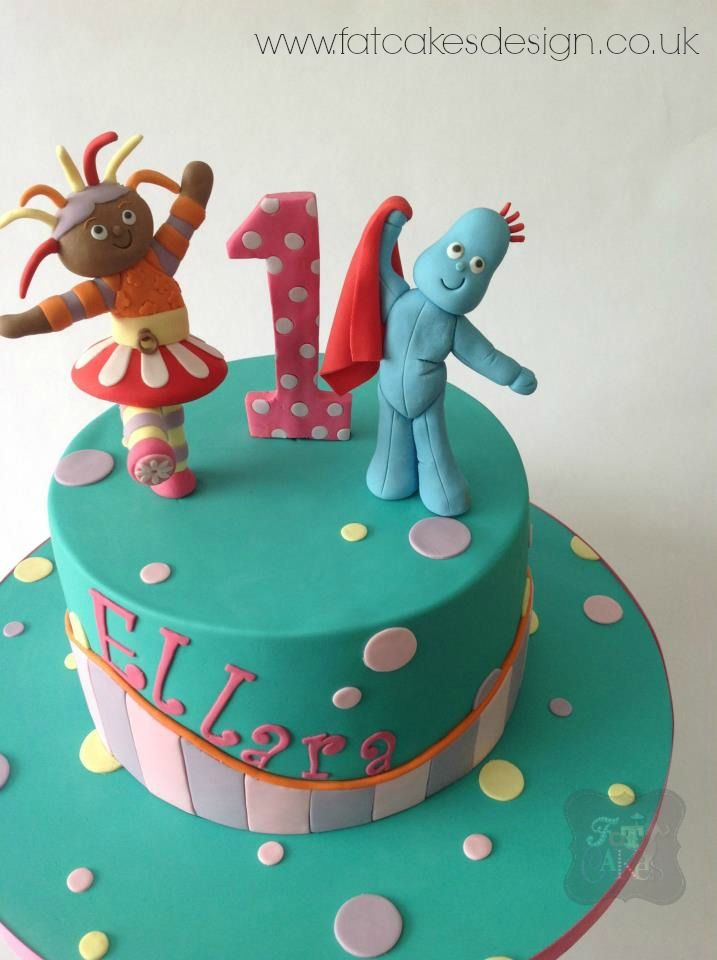 In the night garden cake. Iggle Piggle and Upsy Daisy.