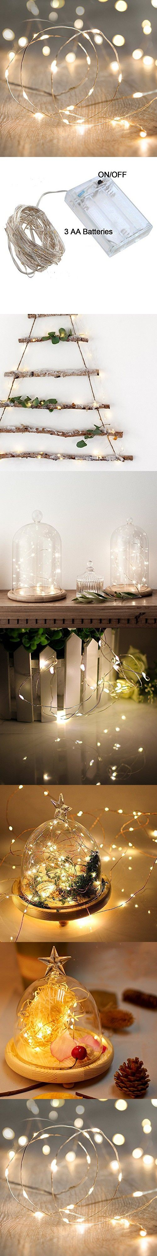 String Lights,Bienna [Waterproof] [Battery Operated] 20 LED 6.56ft/2M Copper Wire Multi Color Star Fairy Lighting for Bedroom Indoor Outdoors Patio Home Garden Wedding Christmas Party-Warm White