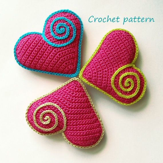 Crochet Pattern. Cute Heart Souvenir. by InspiredCrochetToys