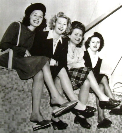 WWII war brides arrive in America on March 22, 1946.