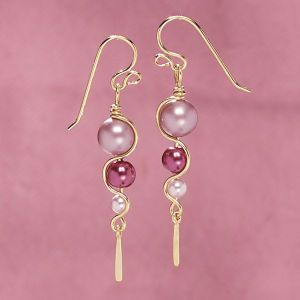 Shades of Pink Pearl Earrings - Gifts, Clothing, Jewelry, Home Decor and Home Furnishings as Featured in Popular Catalogs | Catalog Favorites