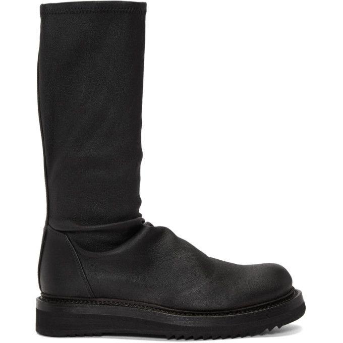 RICK OWENS Black Sock Creeper Boots. #rickowens #shoes #