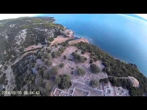 Ancient Ruins Rhamnous, Gorge and Sea FPV walkera qr x350 pro - YouTube