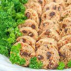 Pork Embutido is a type of Filipino meatloaf. It is composed of ground pork, vegetables, cheese, raisins, and seasonings.