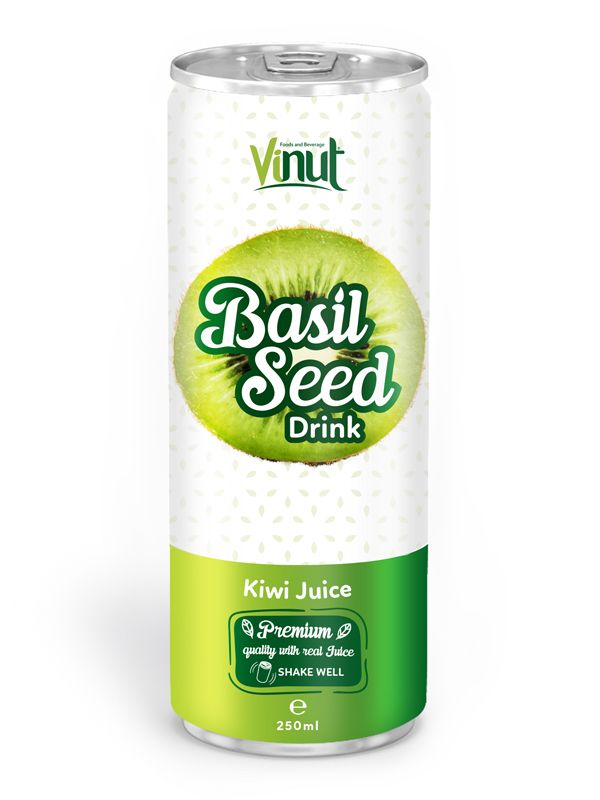 250ml Premium Quality Basil Seed Drink Kiwi Juice Flavour in South Africa