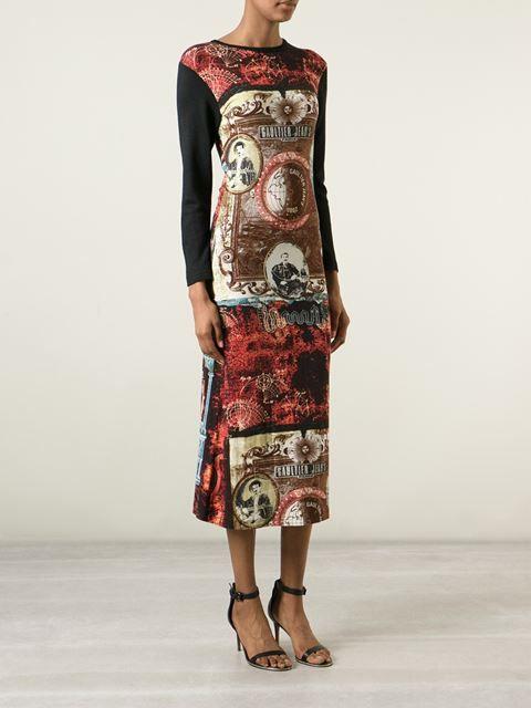 Jean Paul Gaultier Vintage Printed T-shirt Dress - Dressing Factory - Farfetch.com