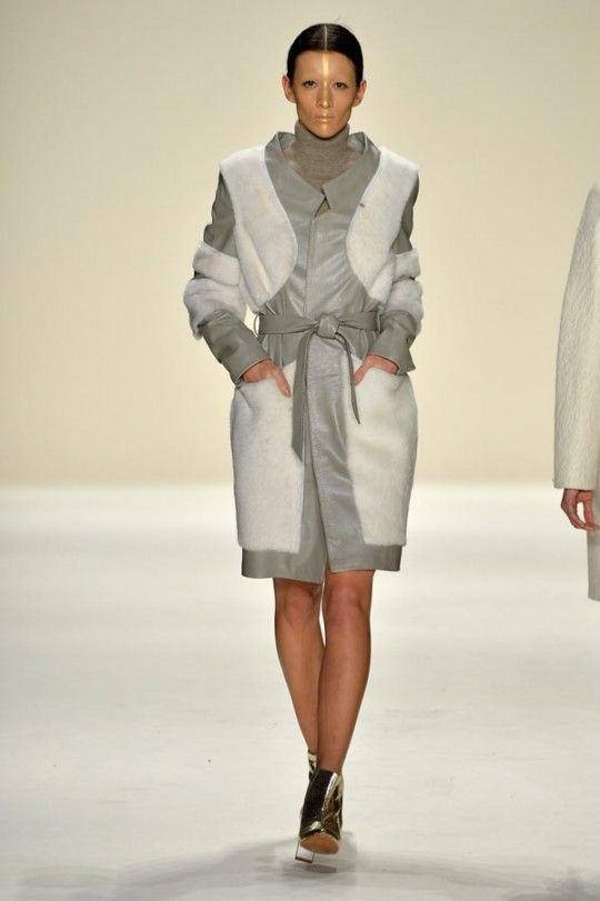 KATYA ZOL From Mongolia with cashmere #NYFW Fall Winter 2014 #MBFW