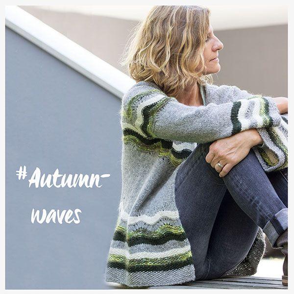 """Autumnwaves"" by Die Mercerie, Yarn: Quince & Co. Owl, Alchemy Kozmos."