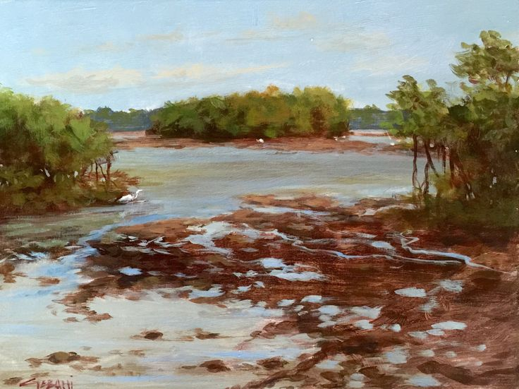 "Mac Arthur State Park, Florida. 9""x12"" acrylic on Masonite panel. Sold. Prints available!"