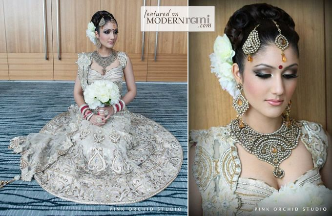Pink Orchid Studio: Bridal Hairstyles (Part One) - ModernRani - South Asian Wedding Blog & Directory