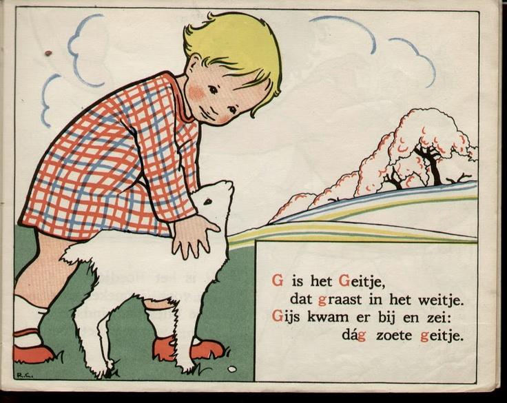 G is het Geitje Rie Cramer alfabeth lb xxx.