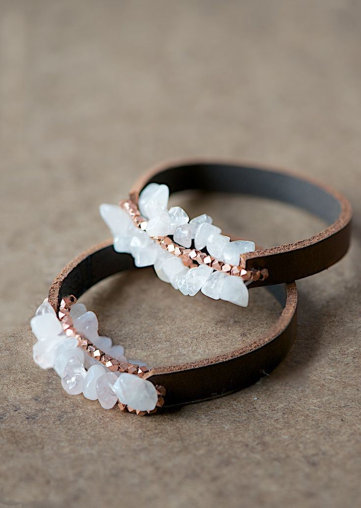easy leather bracelet tutorial more tuts toooo