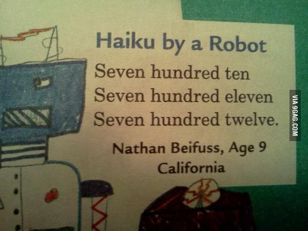 Haiku by a robot