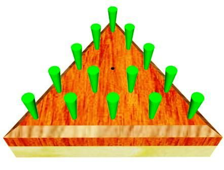 This Last Man Standing game is a simple project that consists of a playing area with 15 holes. Start with 1 empty hole and to end up with 1 peg