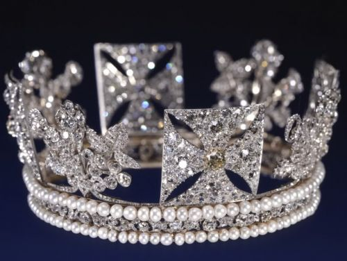 The1820 Coronation Diamond Diadem George IV worn by Queen Elizabeth in 1953