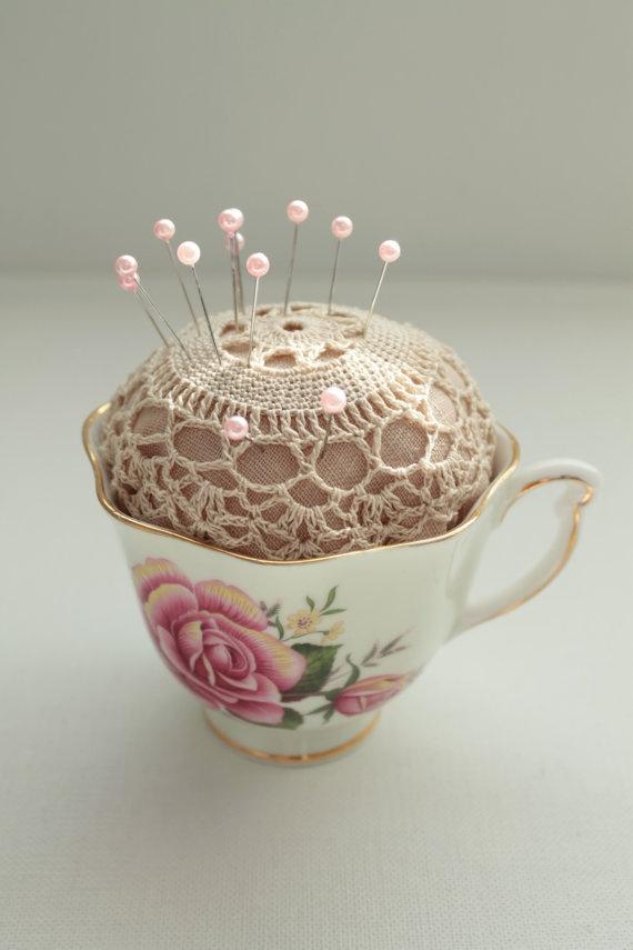 Pincushion Tea Cup - I have the perfect tea cup and I need a pincushion