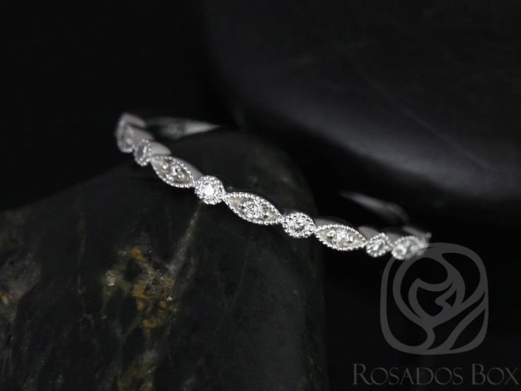 Ultra Petite Bead & Eye 14kt White Gold Vintage WITH Hand Milgrain Diamonds HALFWAY Eternity Band (Available in other metals) by RosadosBox on Etsy https://www.etsy.com/listing/161283081/ultra-petite-bead-eye-14kt-white-gold