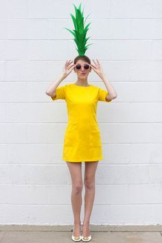 Don a yellow dress and be a pineapple for Halloween. http://www.brit.co/work-appropriate-costumes/?utm_content=bufferb7a31&utm_medium=social&utm_source=pinterest.com&utm_campaign=buffer
