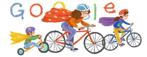 "GOOGLE For May 11, 2014 :: Honoring Moms and Wishing ""Happy Mother's Day"" With This Doodle, We All Remember Most Our Mothers Taking The Time Out To Teach Us How to Ride a Tricycle, and Then a Bicycle, The Best of Times With MOM !! ~:<3"