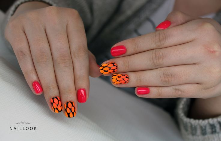www.naillook.pl #mani #manicure #hybrid #hybryda #manicurehybrydowy #neon #neonnails #sugareffect #nailart #nail #nails #shortnails