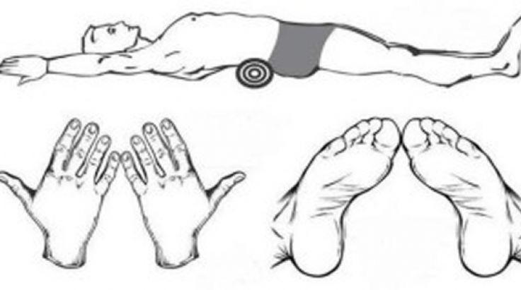 Günde 5 dakika havlu Egzersizi ile yatarak zayıflayın.Evet yanlış duymadınız Bu Teknik Japon doktor fukutsudzi tarafından kitabında da yayınlandı.Doktora göre kilo vermek için herhangi bir alete egzersize gerek yok tek yapmanız gerekn belinizin alt çukur kısmına bir havlu yerleştirmek ve aşağıda resimde görüldüğü şekilde 5 dakika boyunca uzanmak…Doktora göre çok etkili olan bu yöntemde sırt üstü yere uzanırken rulo şekline getirdiğiniz bir havluyu göbek hizanızda sırtınızın alt kısmına…