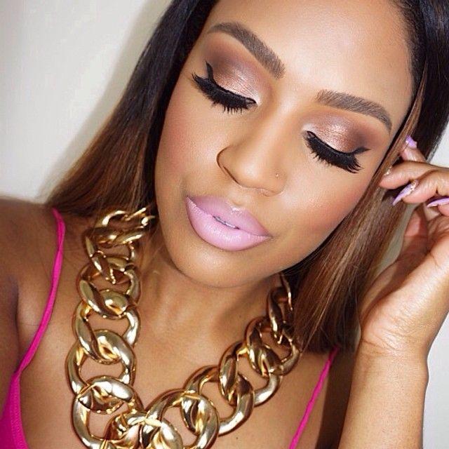 "#ShareIG Motd necklace from @Bria Lena Lena Styles✨ @anastasiabeverlyhills ""chocolate"" dip brow pomade and ""brunette"" brow wiz. @L Mahaffey Blanchard Cosmetics ""nymph"" lipstick #beat #anastasiabeverlyhills #makeupshayla #lorac"