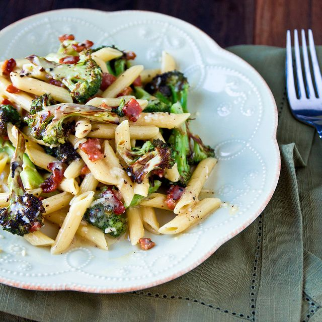 Roasted Broccoli Carbonara [via confections of a foodie bride] This was SO