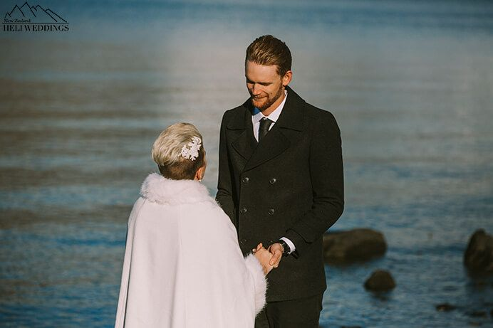 Queenstown 4wd wedding package with lakeside ceremony bride and groom